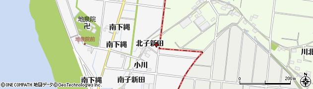 愛知県稲沢市祖父江町神明津(北子新田)周辺の地図