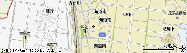 愛知県稲沢市祖父江町甲新田(六軒)周辺の地図