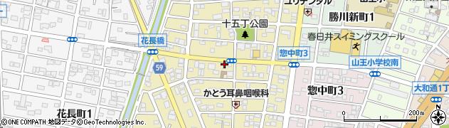 愛知県春日井市知多町周辺の地図