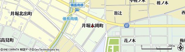 愛知県稲沢市井堀大縄町周辺の地図