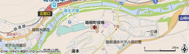 神奈川県足柄下郡箱根町周辺の地図