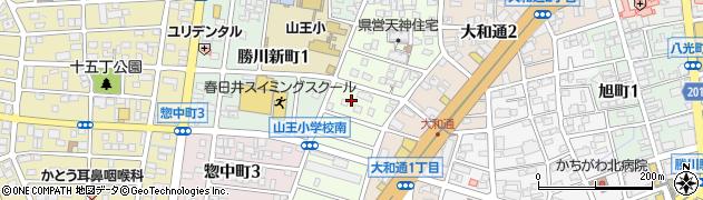 愛知県春日井市天神町周辺の地図