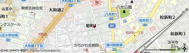 愛知県春日井市旭町周辺の地図
