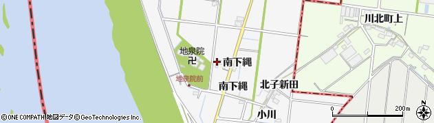 愛知県稲沢市祖父江町神明津(西下縄)周辺の地図