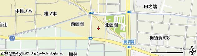愛知県稲沢市矢合町(外廻間)周辺の地図