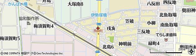 愛知県稲沢市北島町(千野地)周辺の地図