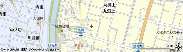 愛知県稲沢市平和町(丸渕上)周辺の地図