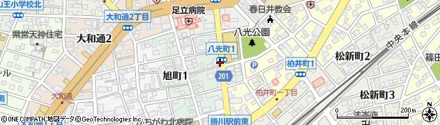 愛知県春日井市八光町周辺の地図