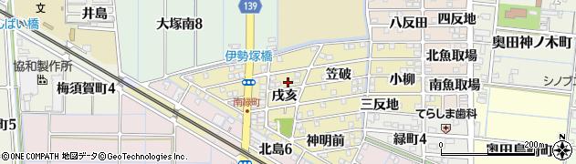 愛知県稲沢市北島町(戌亥)周辺の地図
