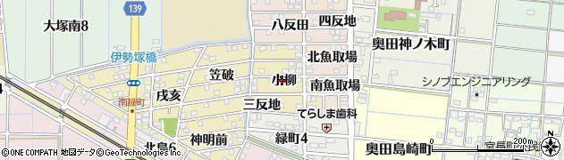 愛知県稲沢市北島町(小柳)周辺の地図