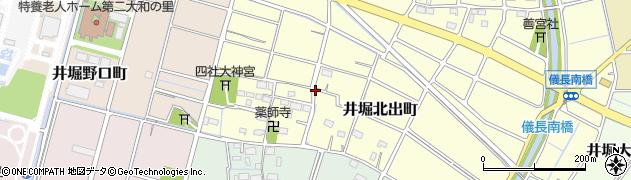 愛知県稲沢市井堀北出町周辺の地図