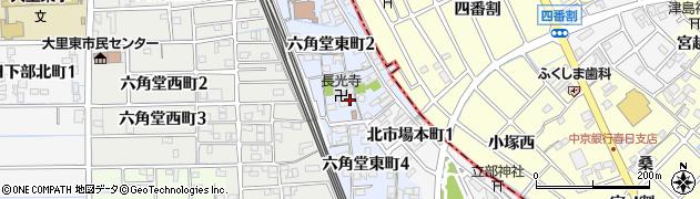 愛知県稲沢市六角堂東町周辺の地図