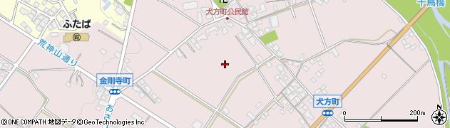 滋賀県彦根市犬方町周辺の地図