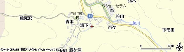 愛知県豊田市三箇町(溝下)周辺の地図