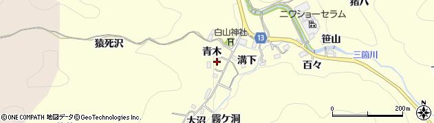 愛知県豊田市三箇町(青木)周辺の地図
