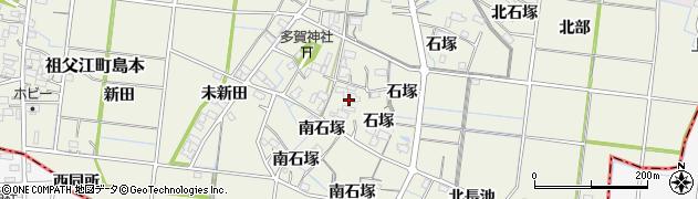 愛知県稲沢市祖父江町島本(西石塚)周辺の地図