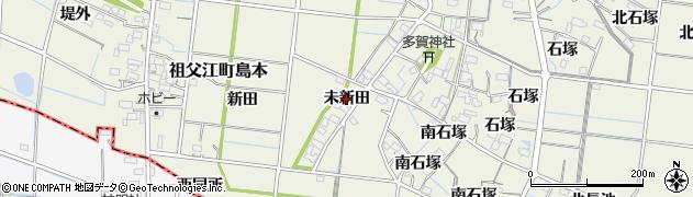 愛知県稲沢市祖父江町島本(未新田)周辺の地図