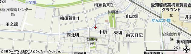 愛知県稲沢市梅須賀町(江崎)周辺の地図