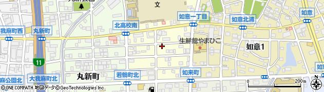 愛知県名古屋市北区如来町周辺の地図