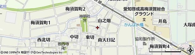 愛知県稲沢市梅須賀町周辺の地図