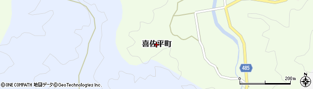 愛知県豊田市喜佐平町周辺の地図