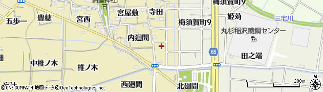 愛知県稲沢市矢合町(鈴置東)周辺の地図