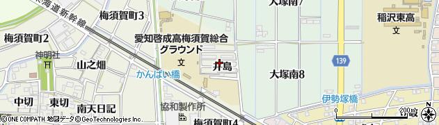 愛知県稲沢市梅須賀町(井島)周辺の地図