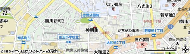 ベントマン 勝川店周辺の地図