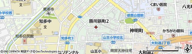 愛知県春日井市勝川新町周辺の地図