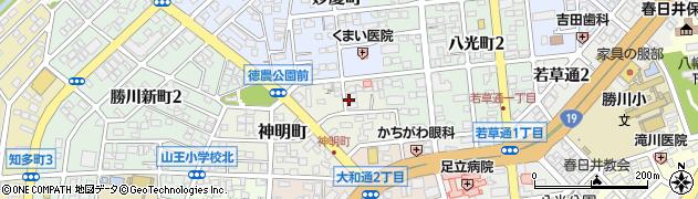 愛知県春日井市神明町周辺の地図