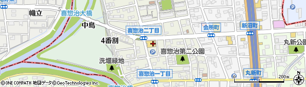 愛知県名古屋市北区喜惣治周辺の地図