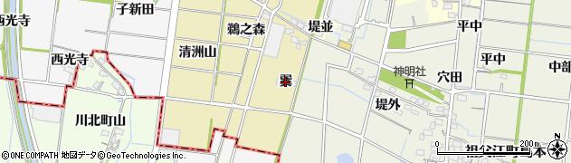 愛知県稲沢市祖父江町西鵜之本(巽)周辺の地図