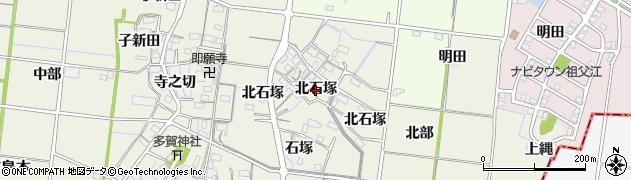 愛知県稲沢市祖父江町島本(北石塚)周辺の地図