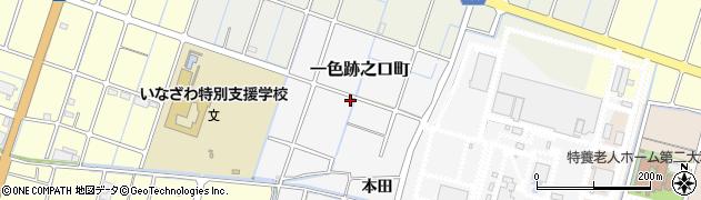 愛知県稲沢市一色跡之口町周辺の地図