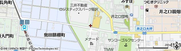 愛知県稲沢市奥田大沢町周辺の地図