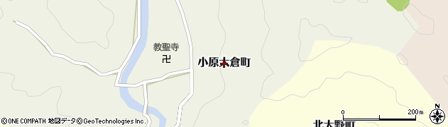 愛知県豊田市小原大倉町周辺の地図