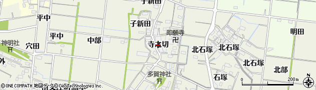 愛知県稲沢市祖父江町島本(寺之切)周辺の地図