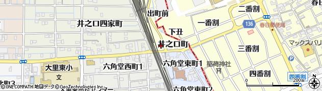 愛知県稲沢市井之口町(池向)周辺の地図