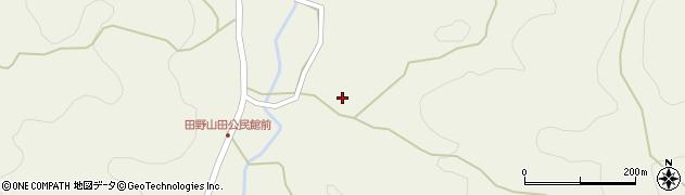 京都府福知山市田野山田周辺の地図