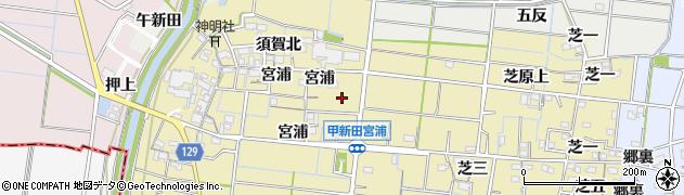 愛知県稲沢市祖父江町甲新田(甲上)周辺の地図
