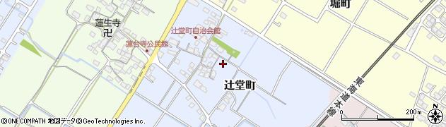滋賀県彦根市辻堂町周辺の地図
