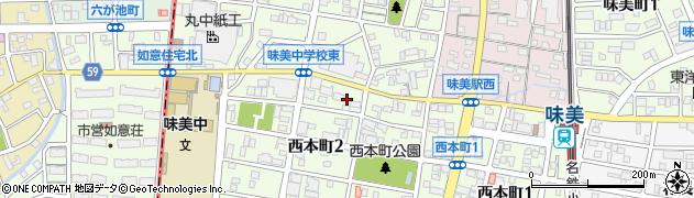 愛知県春日井市西本町周辺の地図