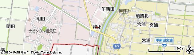 愛知県稲沢市祖父江町大牧(押上)周辺の地図