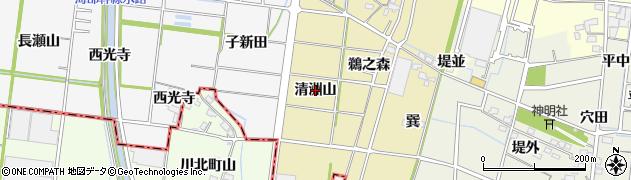 愛知県稲沢市祖父江町西鵜之本(清洲山)周辺の地図