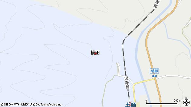 〒689-1435 鳥取県八頭郡智頭町横田の地図
