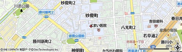 愛知県春日井市妙慶町周辺の地図