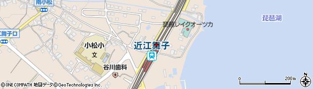 滋賀県大津市周辺の地図
