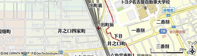 愛知県稲沢市井之口町(池ノ畑)周辺の地図