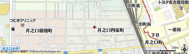 愛知県稲沢市井之口四家町周辺の地図