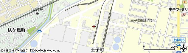 愛知県春日井市王子町周辺の地図
